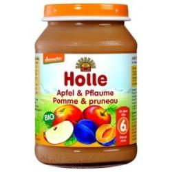 Deser jabłko śliwka 190g Holle